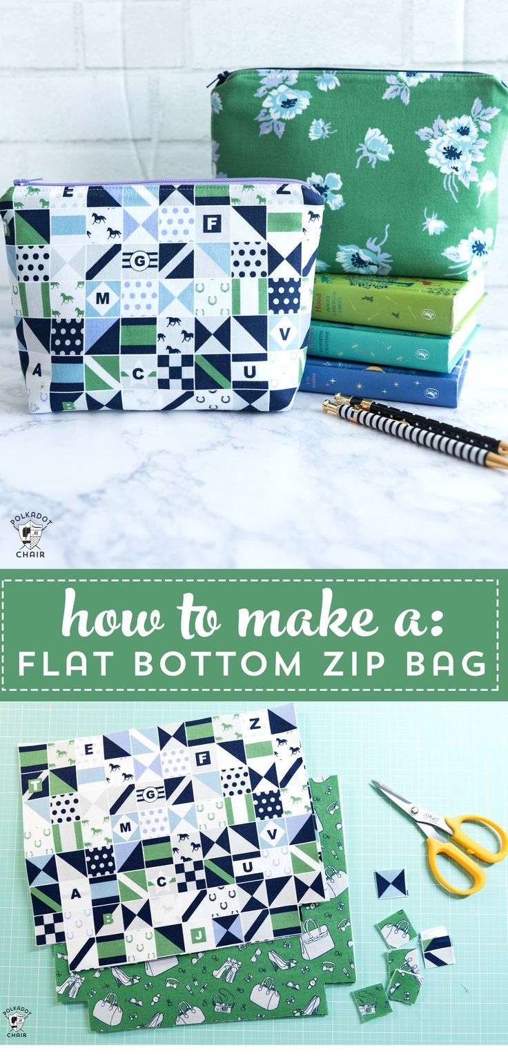 Learn how to sew a simple zippered pouch with the free tutorial. #simplesewingpr...