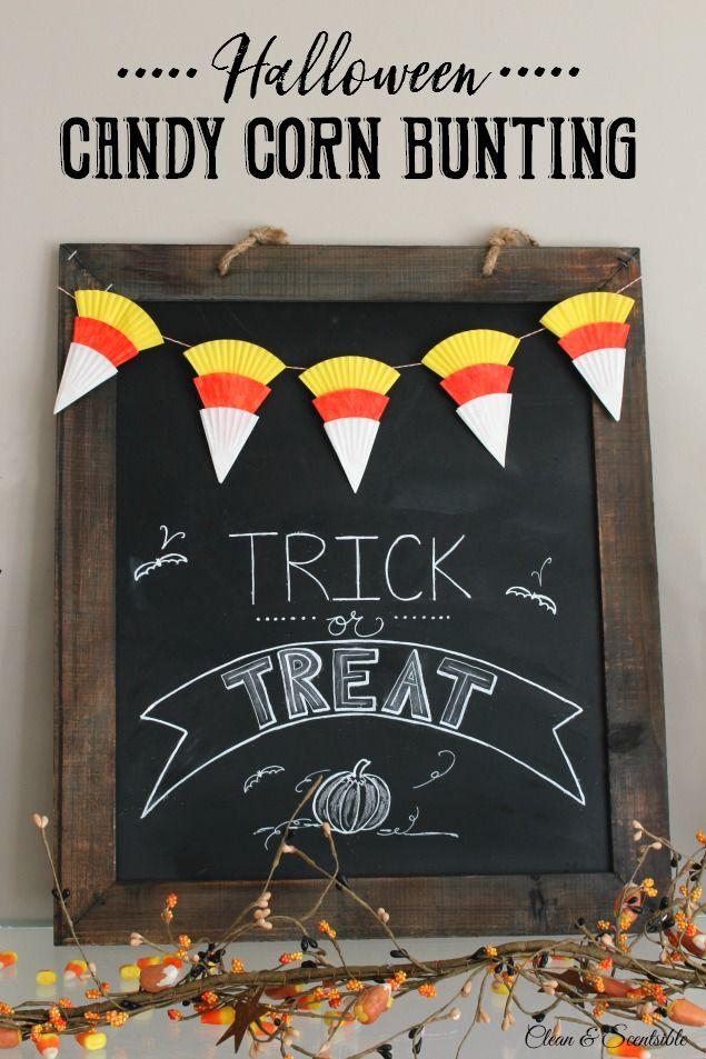 Simple Halloween Candy Corn Bunting