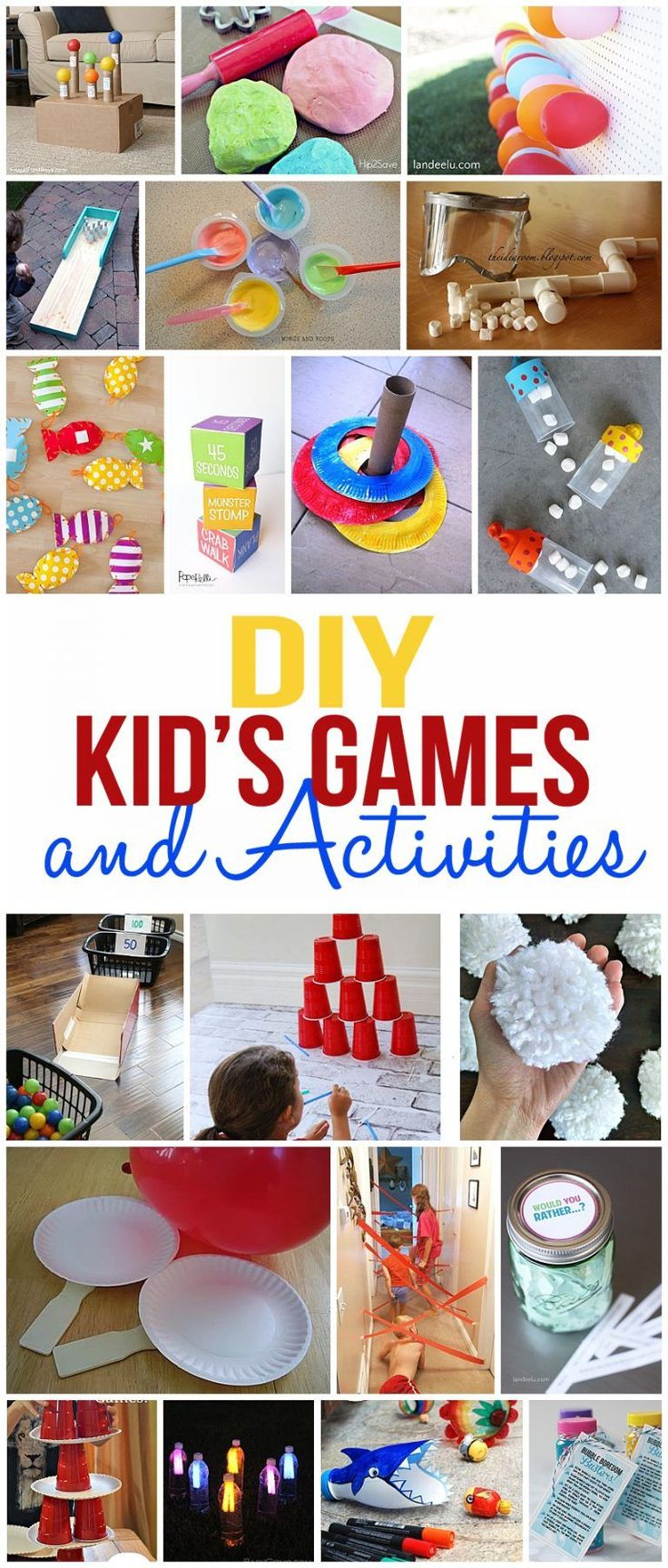 So many fun kids games and activities for you to create and play with your kids!...