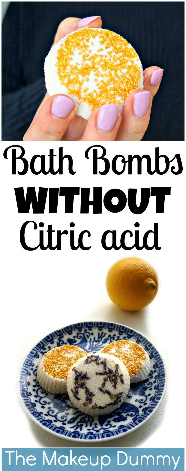 THIS IS SO EASY!! DIY Bath Bombs WITHOUT citric acid or cream of tartar using le...