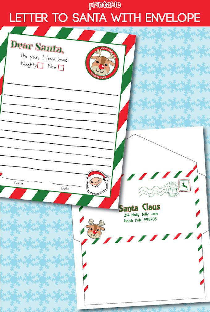 This letter to Santa free printable is absolutely adorable! It even comes with a...