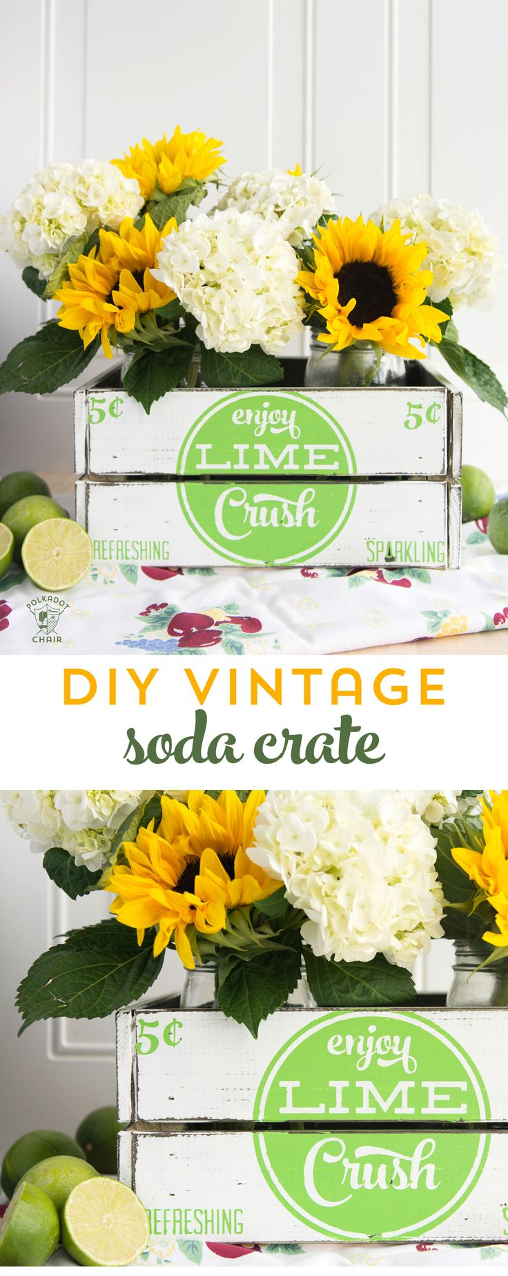 learn how to make your own DIY Farmhouse Decor. This hand painted vintage soda c...