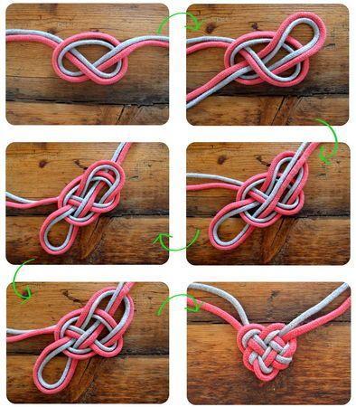 2 ficelles, un noeud, un collier ....  clonesnclowns.com  via Blogs créatifs, l...
