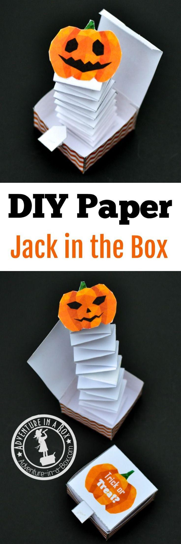 Apprends à fabriquer une boite pop up pour Halloween, un cadeau pour la fête d...