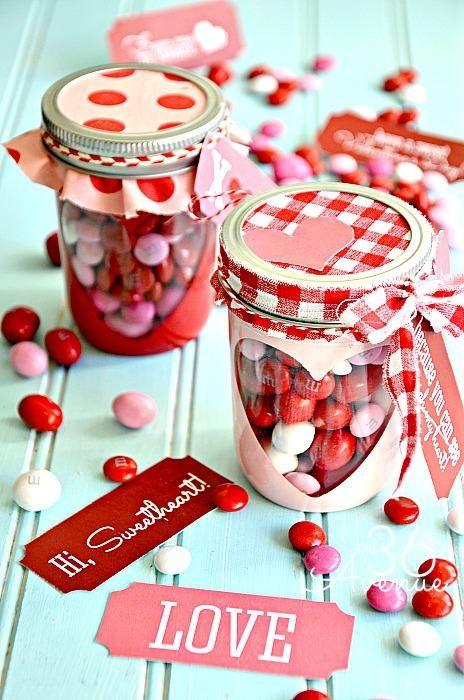 Bricolage de St-Valentin à faire soi-même - pots masson