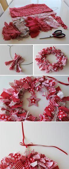 Christmas Wreath #DIY #tuto #brico #deco #travaux #creation #myfashionlove www.m...