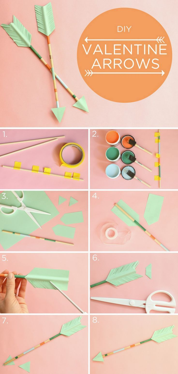 #DIY Valentine's Day Arrows! Perfect way to top off a Valentine's Day gift, or p...