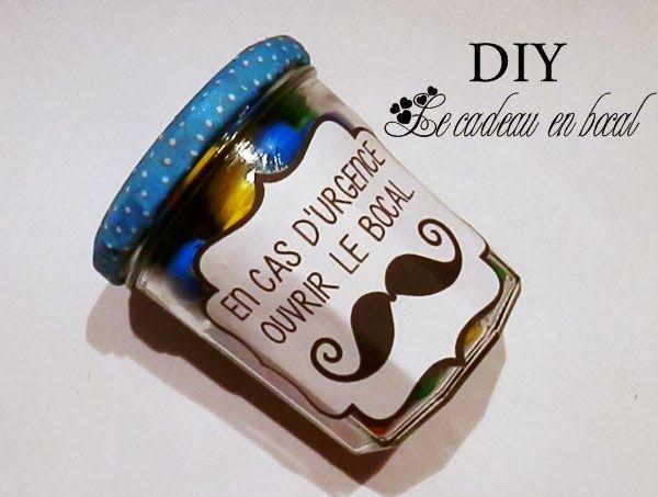 DIY cadeau en bocal, avec plusieurs étiquettes à télécharger selon les occas...