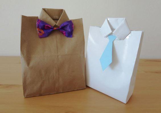 DIY facile : pochette cadeau pour homme à faire soi-même.