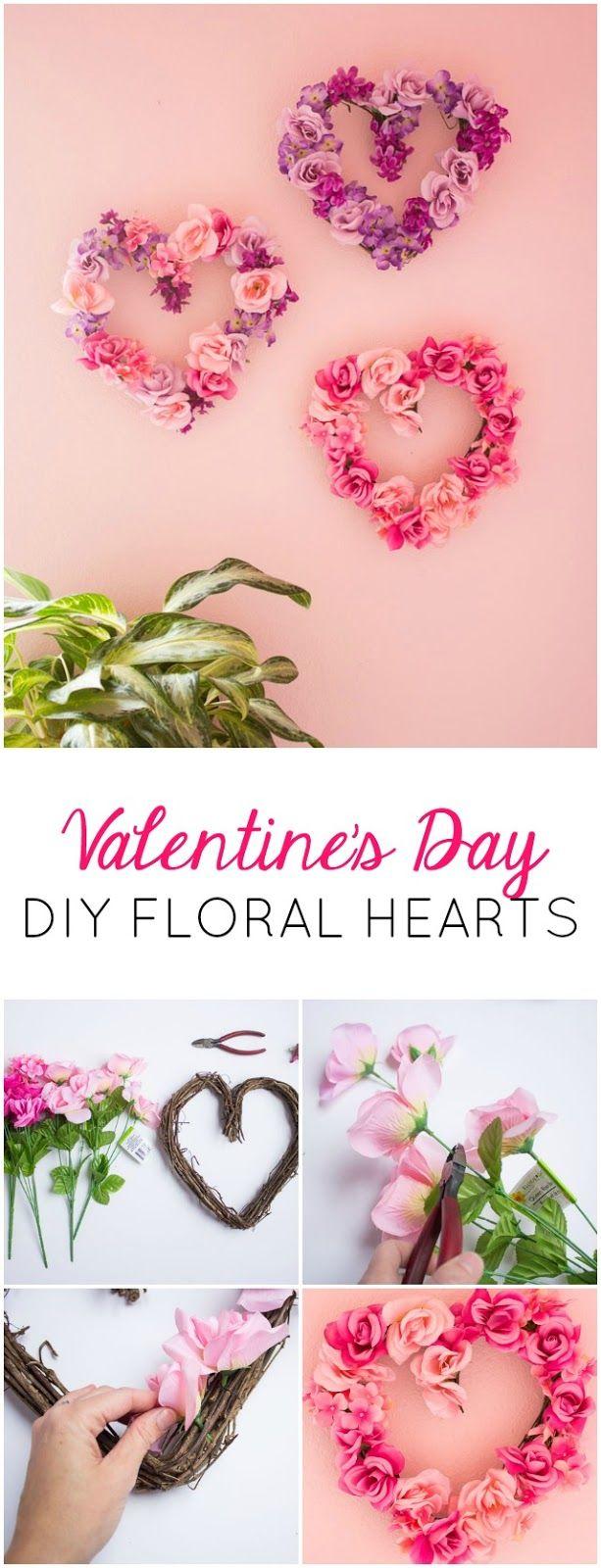 Design Improvised: Valentine's Day Decor: DIY Floral Hearts