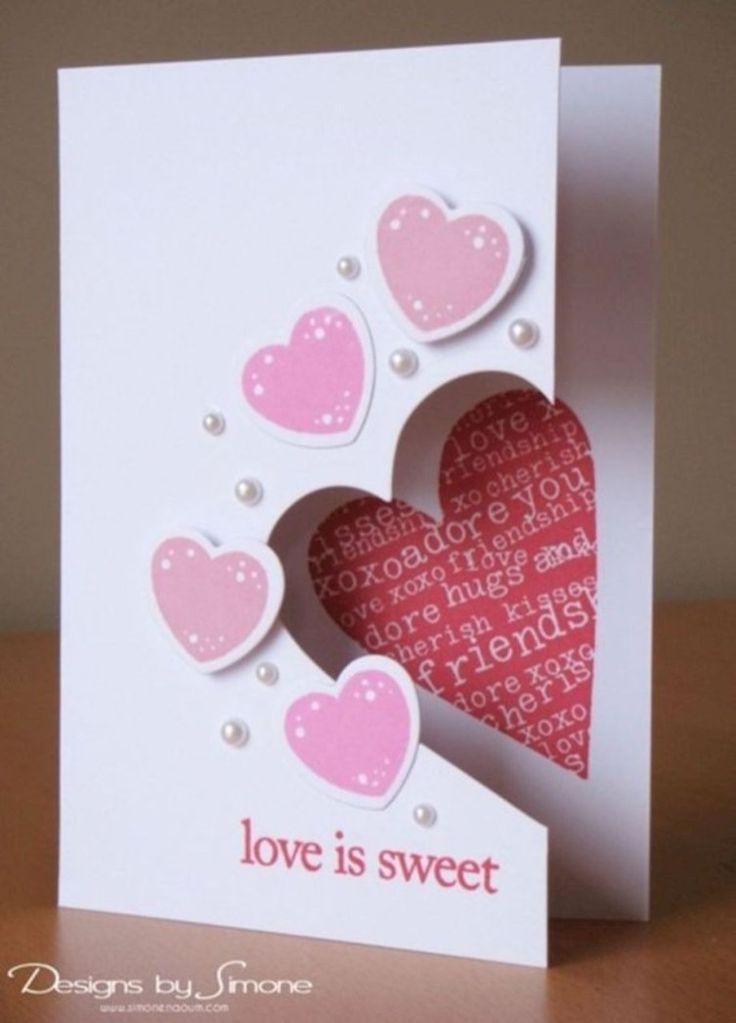 Diy valentines day cards handmade 09