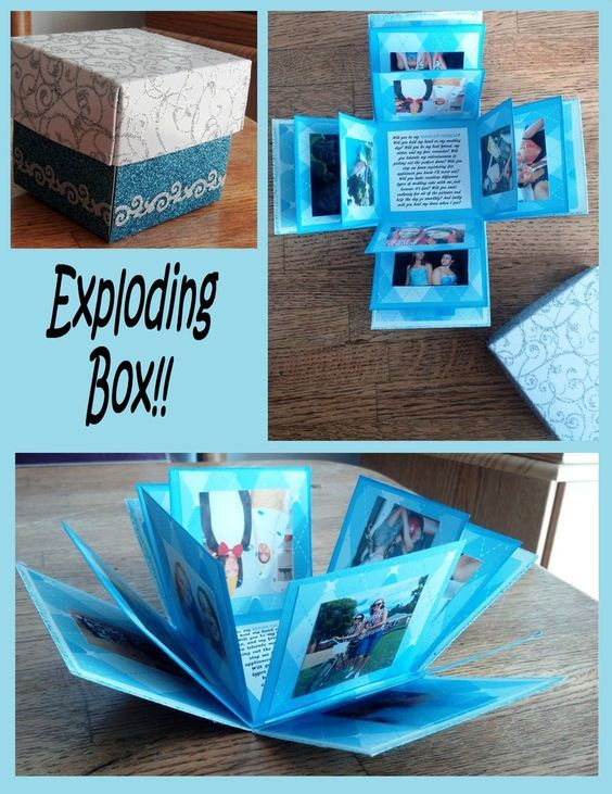 Exploding Box - could be a great gift by adding gift cards to some of the flaps!...