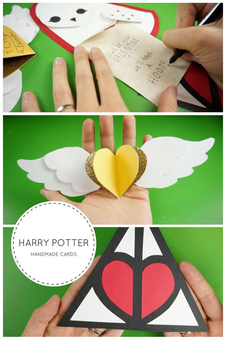 Diy Valentines Day Harry Potter Inspired Handmade Cards An Owl