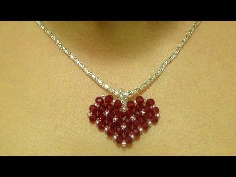 How to make a small heart pendant / DIY Valentine's day project - YouTube