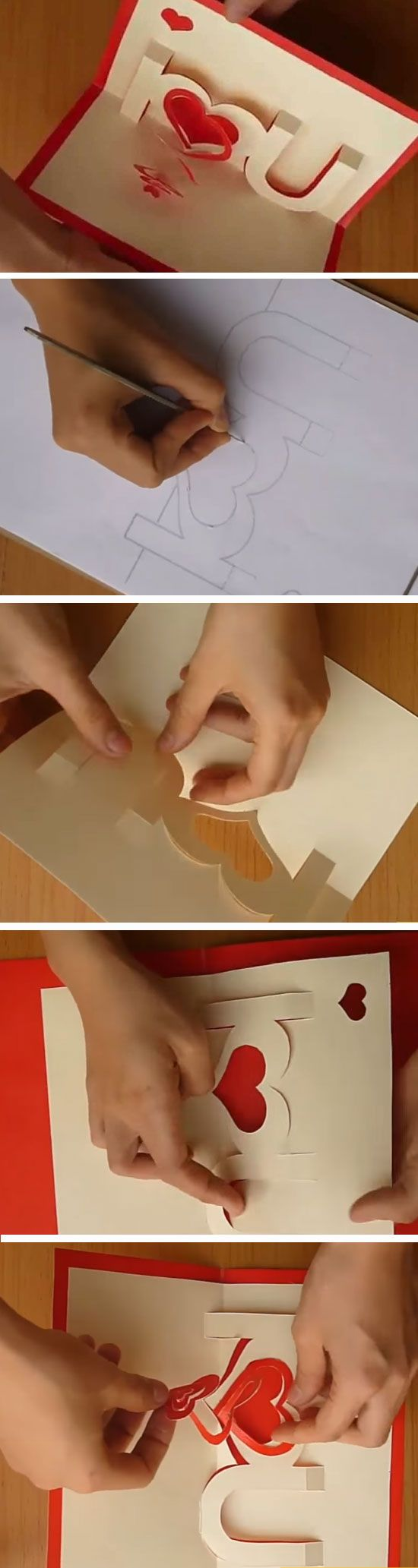 I love U Pop Up   DIY Valentines Cards for Him   DIY Fathers Day Cards from Daug...