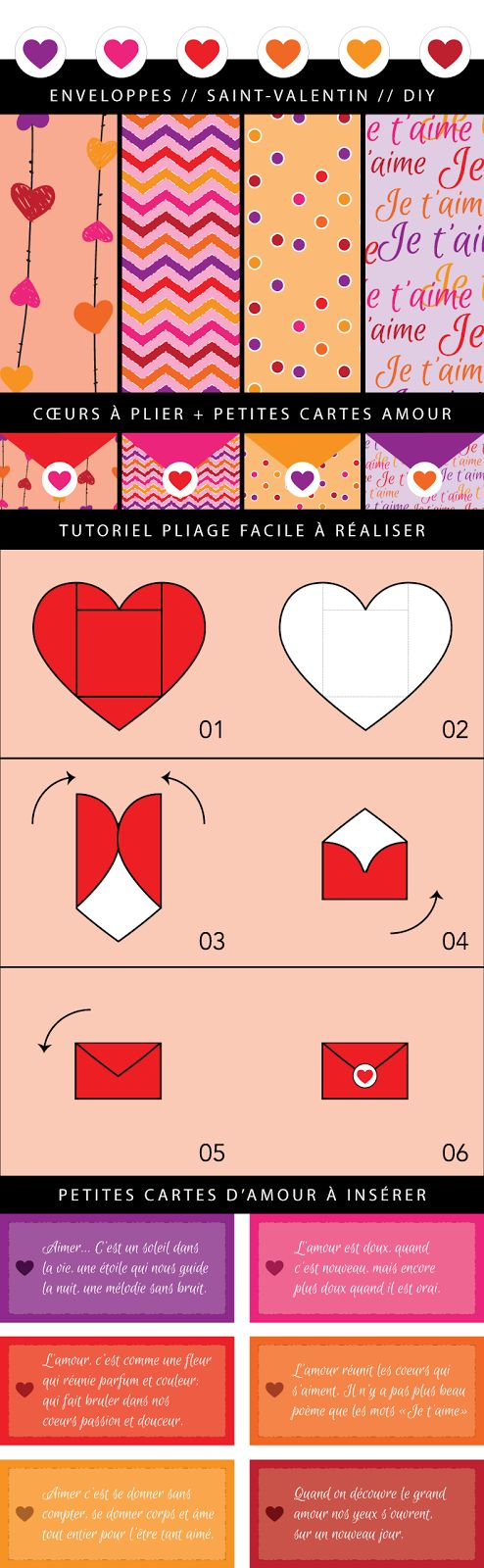 Nadi[Art]Design: Coeurs à plier / Saint-Valentin / DIY ................. #Globe...
