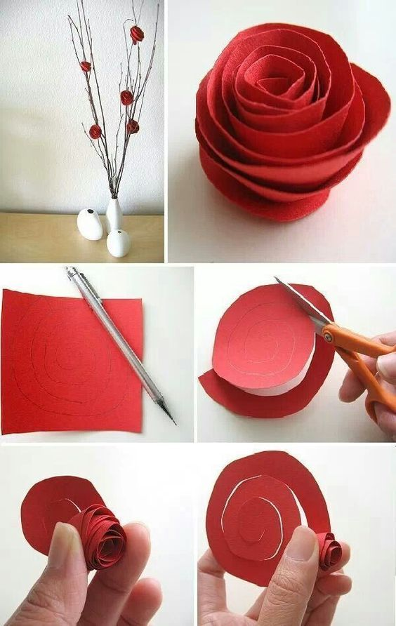 Paper Roses - 32 Cool Crafts and Gifts for This Valentines Day You Must Try