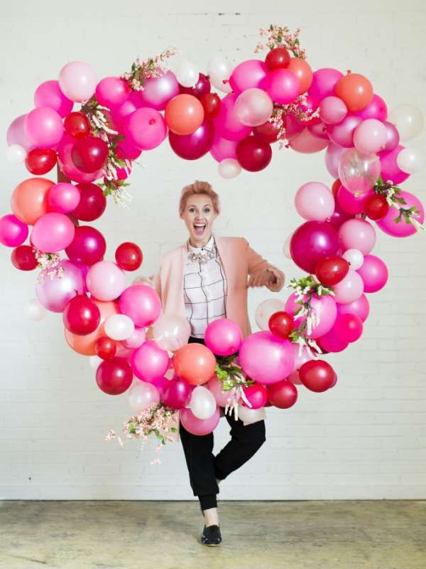 Pour la Saint-Valentin.16 décorations de rêve à faire avec des ballons gonfla...