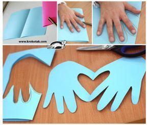 Un bricolage touchant à faire avec les enfants pour la Saint-Valentin! - Bricol...