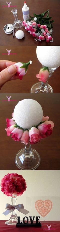 Valentine Day Floral Bouquet #Craft Project – Easy And Crafty #crafts #valenti...