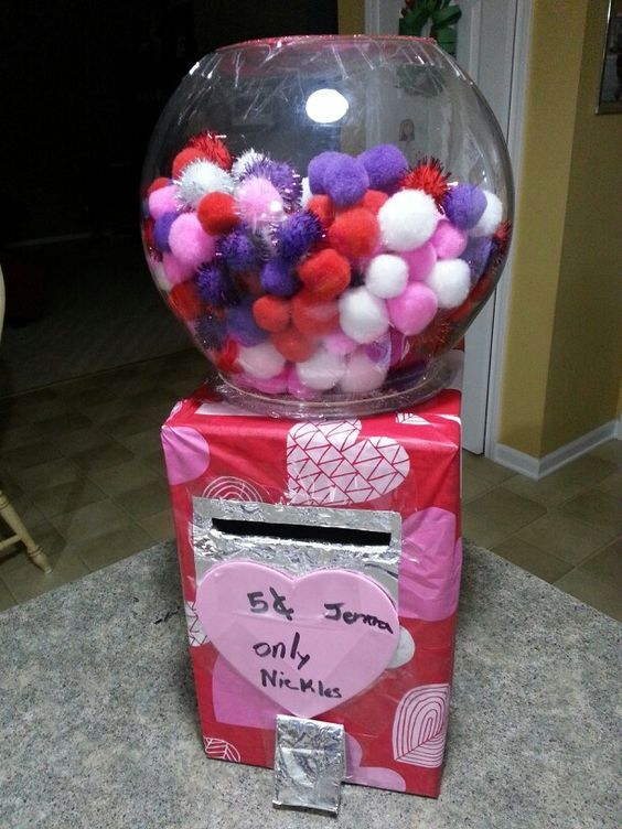 Valentine box ready for the school party