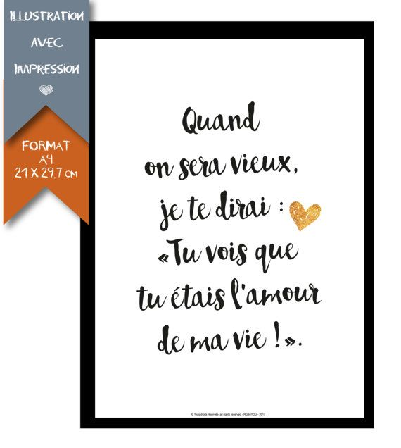 #affiche Collection St Valentin - format A4 par RGB4YOU sur Etsy #citation #amou...