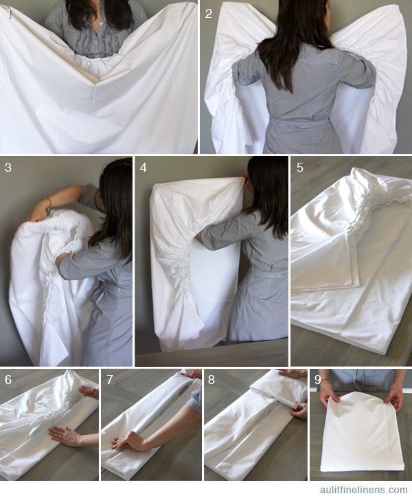 How to fold a fitted sheet. I swear, this may be the death of me...but I'll ...
