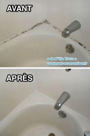 Il existe un truc simple pour enlever la moisissure sur les joints de la baignoi...