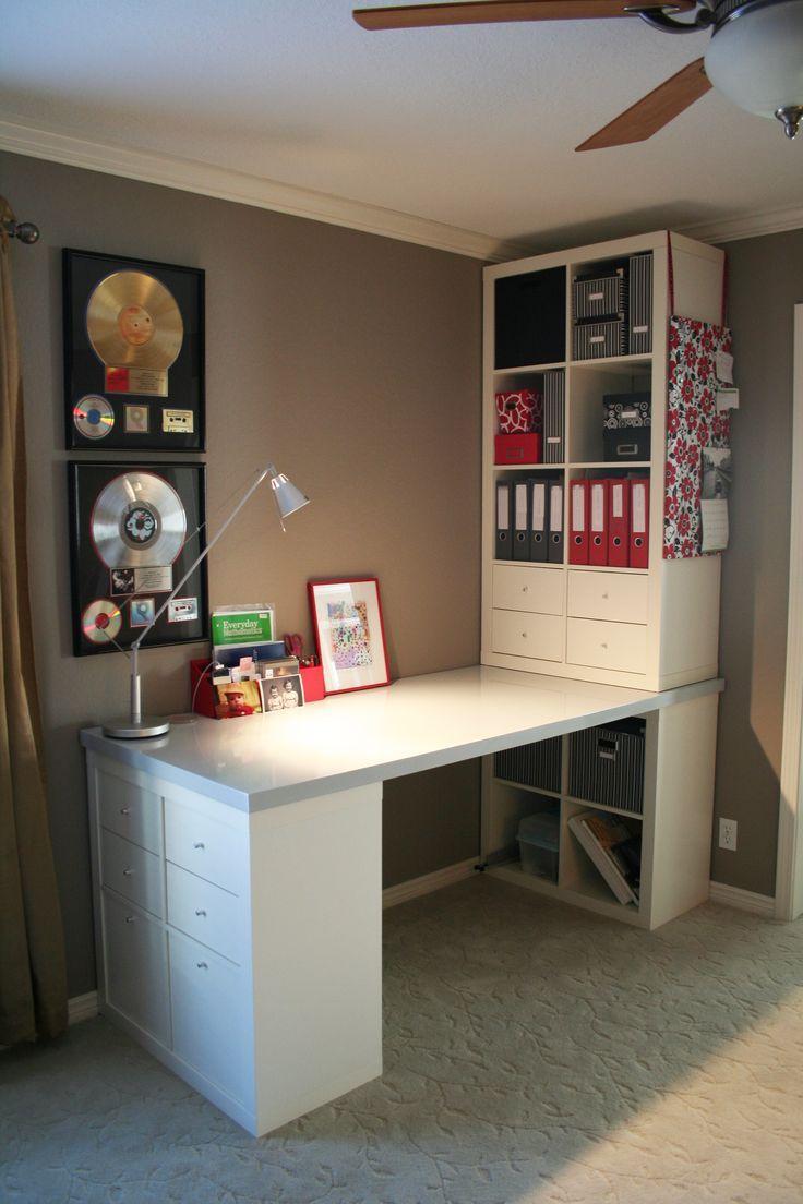 Love this custom desk space-