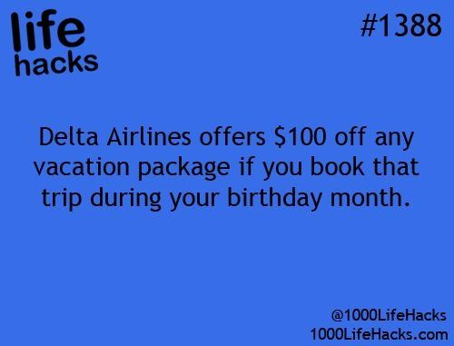 Take $100 Off For Your Next Birthday Trip! #Travel #Trusper #Tip