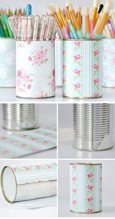 comment décorer boites de conserve