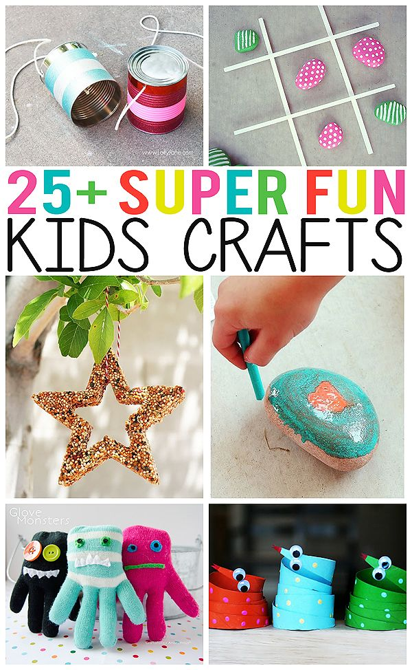 25+ Super Fun Kids Crafts. So many creative ideas for the kids!