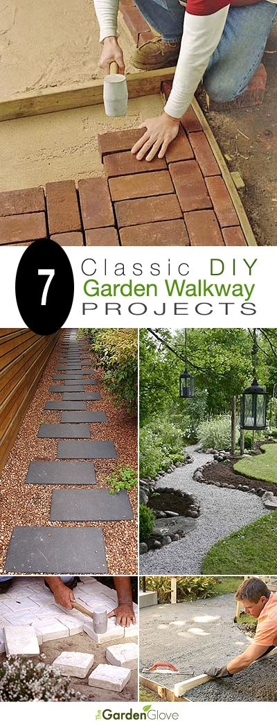 7 Classic DIY Garden Walkway Projects • With Tutorials! • brick paths, grave...