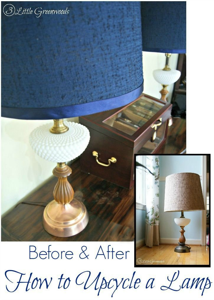 AMAZING Tutorial on How to Upcycle a Lamp for your #homedecor by 3 Little Greenw...