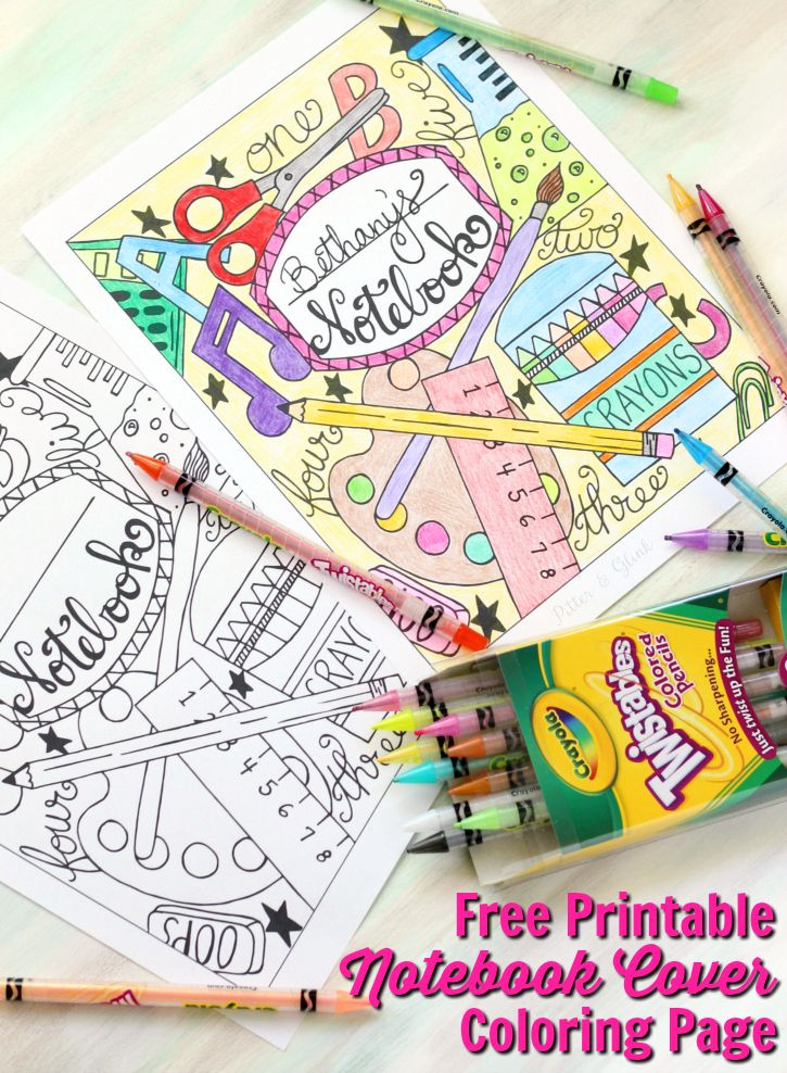 Diy Crafts Back To School Notebook Cover Printable