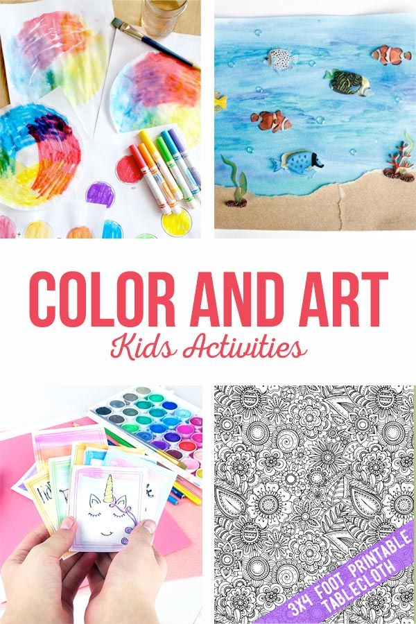 Color and Art activities are sure to provide hours of fun this summer. Printable...