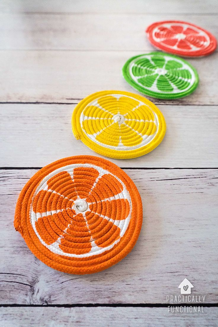 Craft | Summer | Make some of these adorable Summer Drink Coasters Fruit Slices....