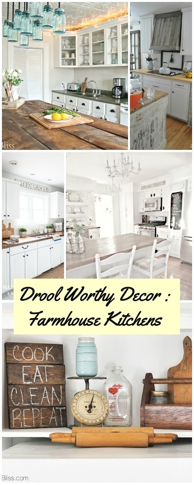 Drool Worthy Decor : Farmhouse Kitchens • Join us in our tour of some amazing ...