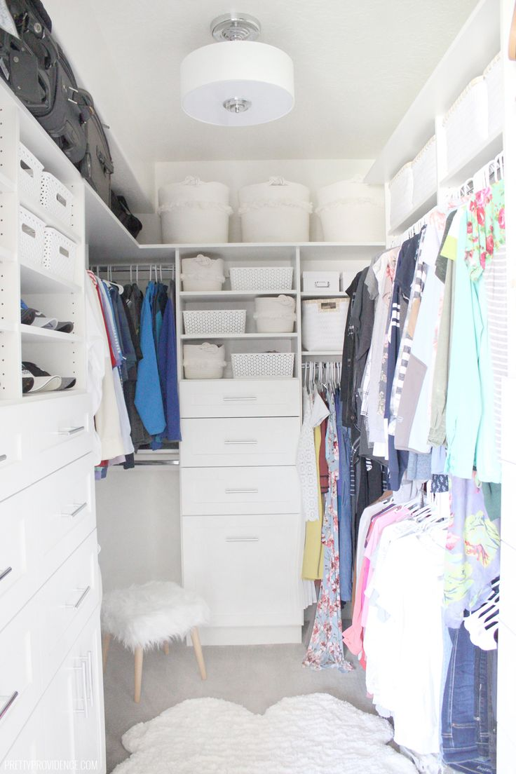 Fabulous walk in closet ideas! Our master closet used to be a complete mess of w...