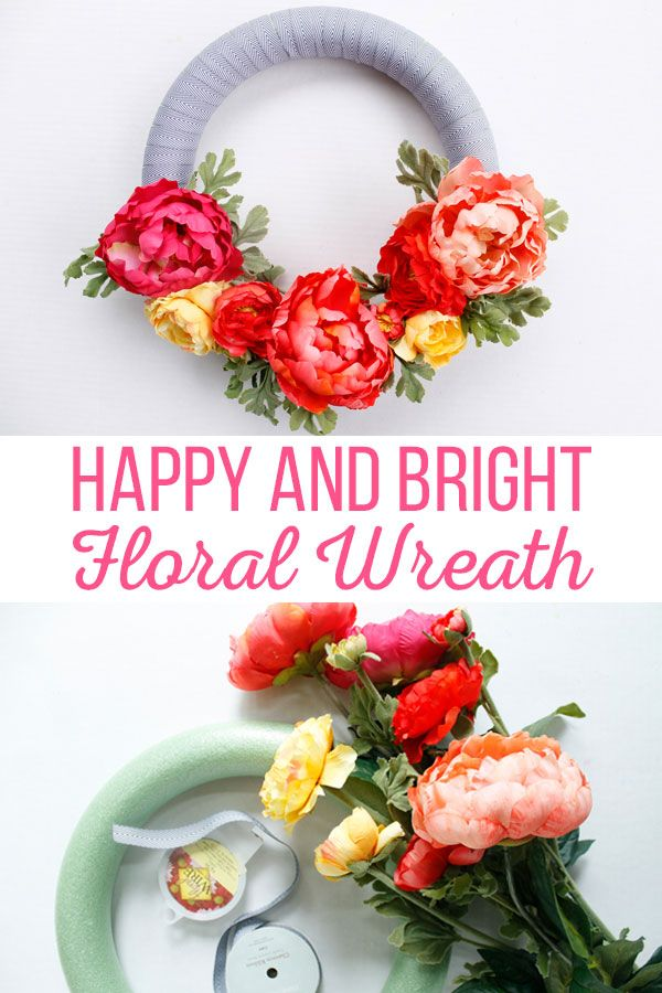 Freshen up your house with this Happy and Bright Floral Wreath. This wreath com...