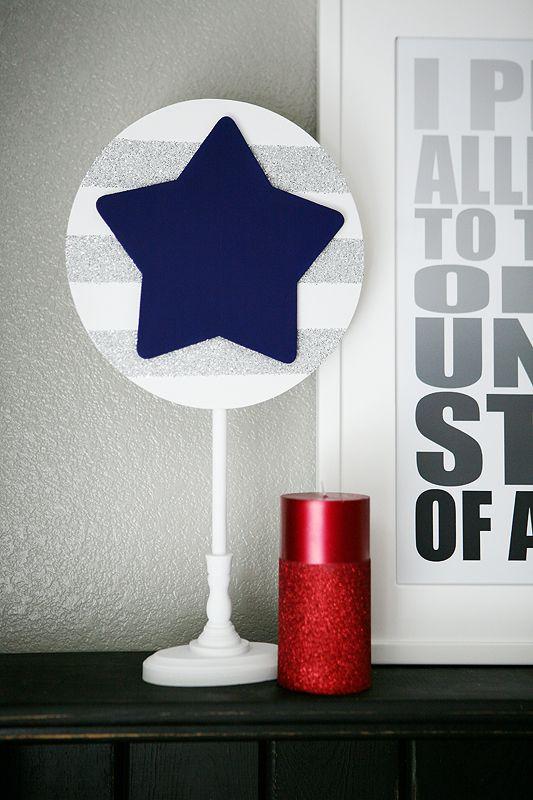 Glittered Patriotic Stars! Fun 4th of July craft project.