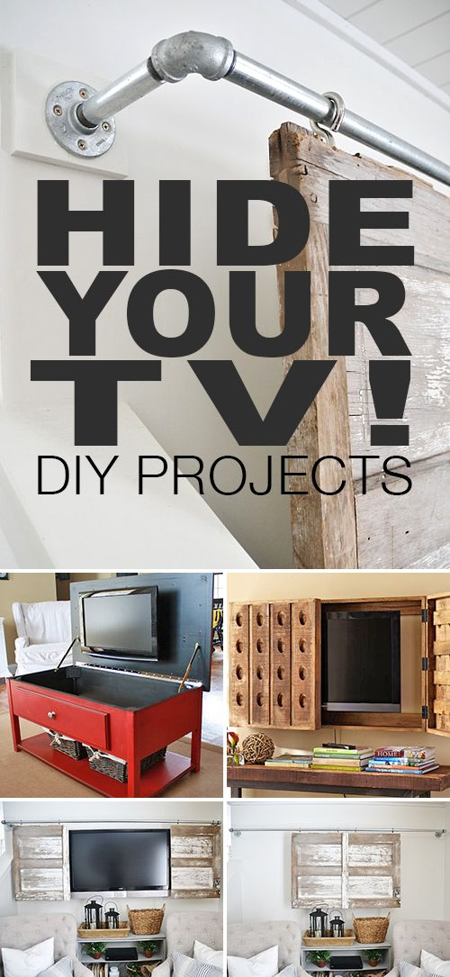 Hide Your TV! • DIY projects, ideas and tutorials. Explore this blog post to f...