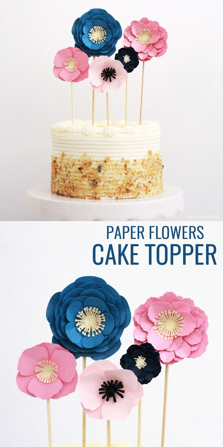 How to make a Paper Flower Cake Topper