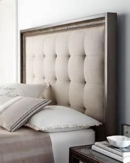 I like the padded, tufted look with wood border.