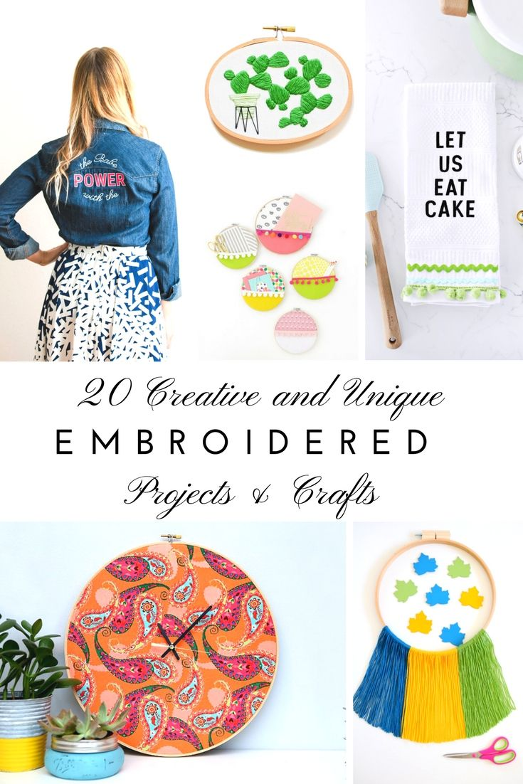If you're into embroidery (or even if you're not) these fun, beautiful e...