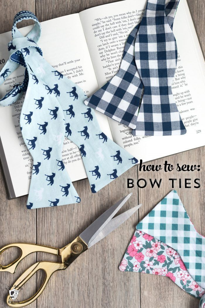 Learn how to sew a bow tie that really ties! A free simple free sewing tutorial ...
