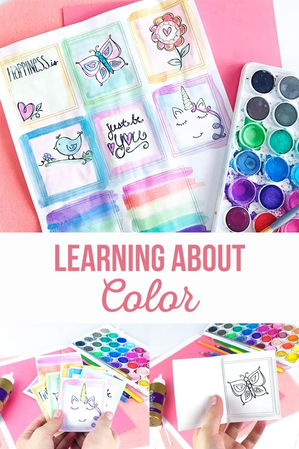 Learning About Color By Coloring | We can learn about colors by coloring. Make a...