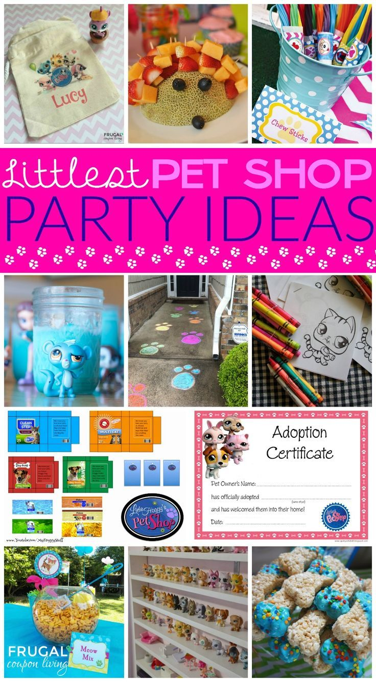 Littles Pet Shop Party Ideas - Freebies and Birthday Party Ideas for your pet lo...