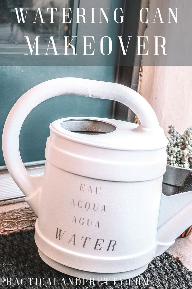Makeover your watering can or use what I did as inspiration to do your own thing...