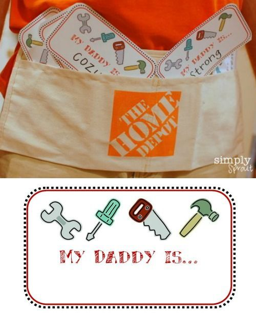 My Daddy is.... Father's Day printables. #fathersday #fathersdayideas #printable...